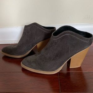 Grey bootie with small heel